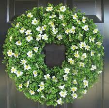 boxwood spring wreath front door decor outdoor boxwood