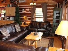 log living room furniture authentic log cabin on beautiful silver homeaway traverse city