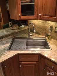 Kitchen Sinks Top Mount Custom Top Mount Retrofit Stainless Kitchen Sinks By Rachiele