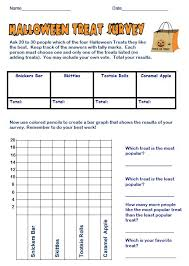 free math lesson free halloween treats survey and bar graph