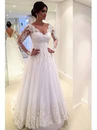 a line wedding dresses v neck backless sleeve court a line wedding dress tidebuy