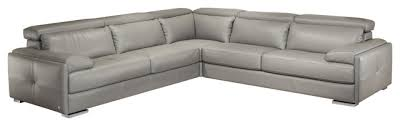 Gray Leather Sectional Sofa by Gary Italian Leather Sectional Contemporary Sectional Sofas