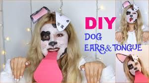 Dalmatian Puppy Halloween Costume Halloween Dalmatian Dog Tutorial Diy Dog Ears Tongue