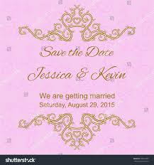 Floral Invitation Card Designs Save Date Invitation Card Template Floral Stock Vector 305812085