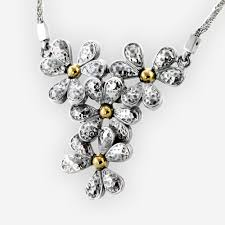 flower silver necklace images Necklaces zanfeld jewellery jpg