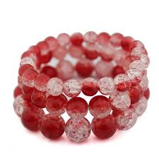 quartz crystal bracelet beads images Buy handmade red crack quartz crystal bracelets jpg