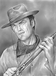 sketch of the day clint eastwood as rowdy yates
