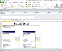 Excel Balance Sheet Template Free Simple Balance Sheet Template For Excel