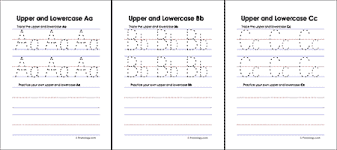 upper and lowercase letters worksheets dotted red line will not