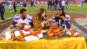 richard sherman ate turkey on the 49ers logo then called fans