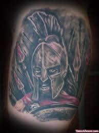 amazing grey ink greek spartan tattoo tattoo viewer com
