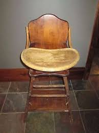 Antique Wooden High Chair Wooden High Chair All Wood Tray Potty Table Chair 3 In 1 Antique