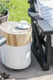 Wood Patio Side Table Stump Side Table The Wood Grain Cottage