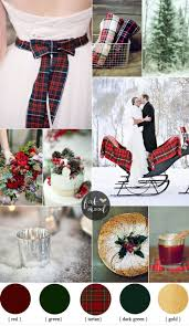 red green color combination red and green winter wedding with rich tartans winter weddings