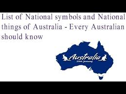 list of national symbols and national things of australia every