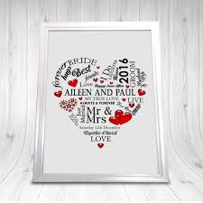 wedding gift personalised personalised wedding gift print a4 the wedding gift for