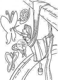 disney princes coloring pages princess tangled rapunzel draws coloring page for kids disney