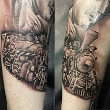 steam train tattoo pictures to pin on pinterest train tattoos