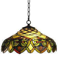 Stained Glass Pendant Light Style Stained Glass Pendant L Target
