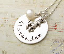 personalized charm necklaces charm personalized necklace handsted birthstone pony on luulla