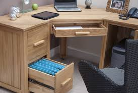 Wooden Corner Desk Top Have Slide Out Drawer For Keyboard by Wood Home Office Corner Desk With Keyboard Desk Design Good