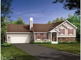 tri level home eplans split level house plan well protected 1285 square