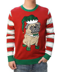 pug sweater sweater s 3d pug hat with bell