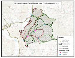 Mt Hood Trail Map Fire Closure Mt Hood National Forest 44 Trails Association44