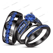 black gold wedding sets wedding rings mens gold wedding bands womens wedding ring sets
