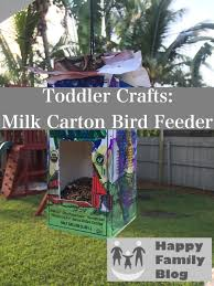 Halloween Milk Carton Crafts by Milk Carton Bird Feeder Happy Family Blog