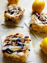blueberry lemon sweet rolls three olives branch