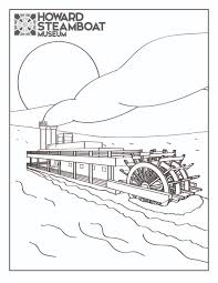 steam boat coloring page kids drawing and coloring pages marisa