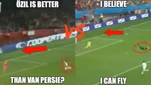 Van Persie Meme - robin van persie diving header vs özil header who s was better
