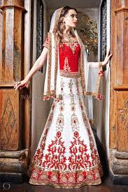 gujarati bridal wear red and white amore wedding dresses