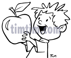 free drawing of apple boy bw from the category cooking food