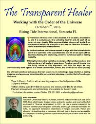the transparent healer working with the order of the universe u201d