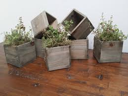 reduced reclaimed wooden planter boxes rustic wooden pots