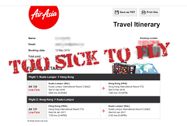 airasia refund policy too sick to travel can i cancel my airasia flight not your