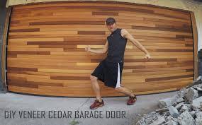 Garage Door Covers Style Your Garage by Cedar Tongue U0026 Groove Veneer Garage Door Diy Installation Time