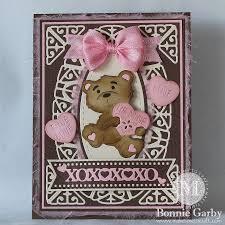 be mine teddy cheery designs be mine teddy die diecut ideas