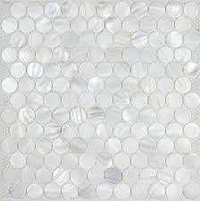 Mosaic Tile Backsplashes by Penny Round Sea Shell Mosaic Bathroom Tiles Mother Of Pearl Tile