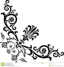 Design Black And White Black Corner Design With Curles Stock Photography Image 11679212