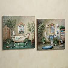 contemporary bathroom decorating ideas with artistic wall decor