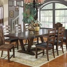 rectangular pine dining table emerald home castlegate rectangular weathered pine trestle dining