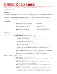 Best Business Analyst Resume Sample by Business Resume Sample Resume For Your Job Application