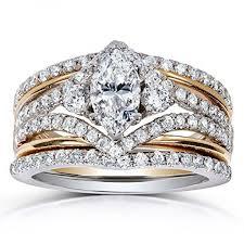 rings art images Art deco marquise diamond 3 piece bridal ring set 1 2 5 carat ctw jpg