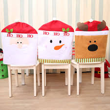 chair back cover custom christmas party decor decoration ornaments chair back cover
