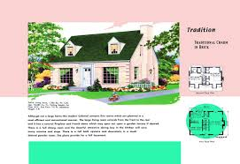 Cape Floor Plans by Cape Cod House Plans 1950s America Style