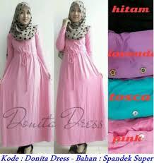 Baju Muslim Grosir grosir baju muslim donita dress spandek modenagrosir