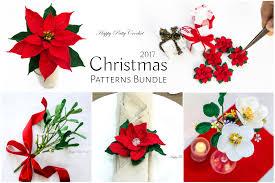 christmas flowers christmas patterns bundle by happy patty crochet